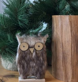 Xmas Decor Wood Owl