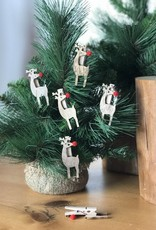 3970121 Xmas Clips Red Nose Deer