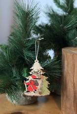 A15192 Wood Santa Scene