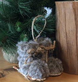 Christmas Ornament Fur Snowshoe Boots