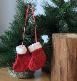 Christmas Red Socks Ornament