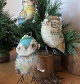 Christmas  Felt Owl Ornament Assorted