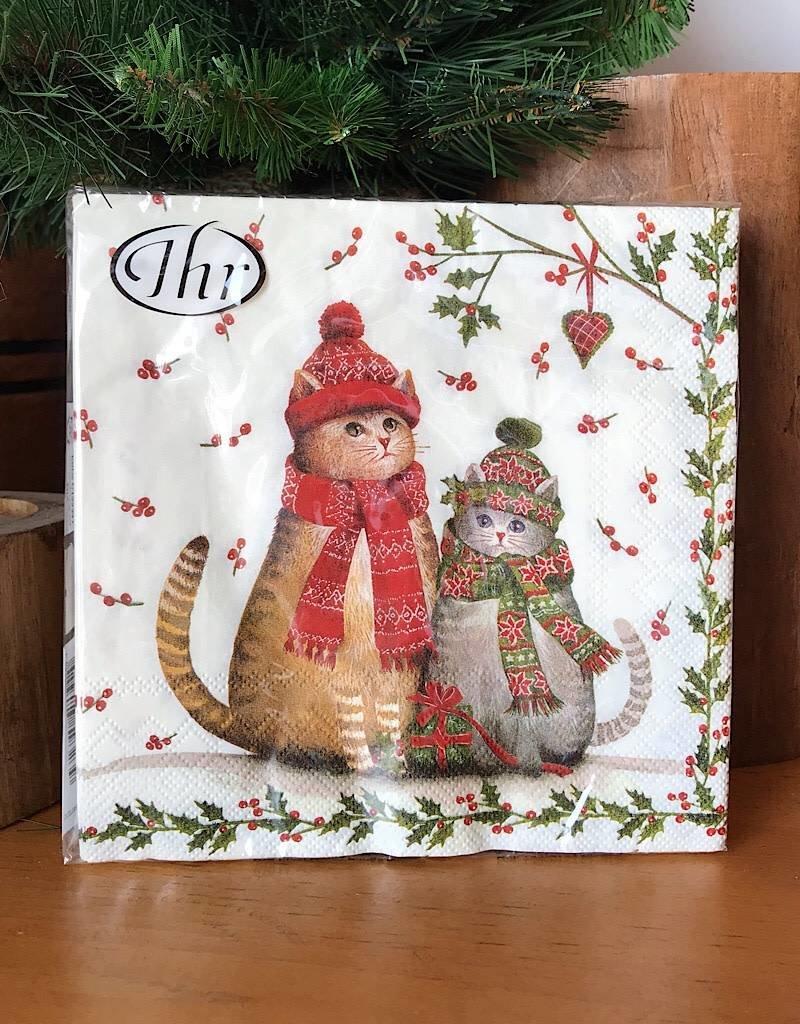 L583500 Christmas Cats Napkin