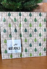 NA209 Leaf Drops Natural Lunch Napkin