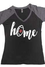 Black/Grey Home Football Tee