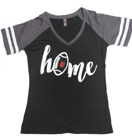 Black/Grey Home Football Tee