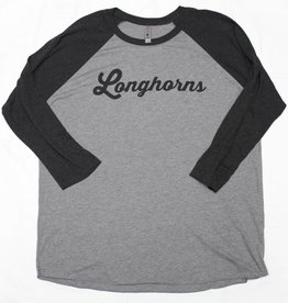 Grey and Black Baseball Tee