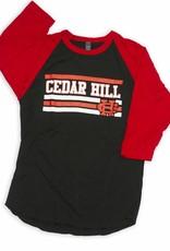 3/4  Sleeve Design CH Red/Black Tee