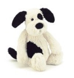"Jellycat Bashful Black & Cream Puppy - 14"" LARGE"