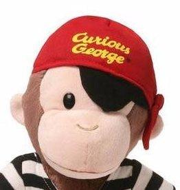 """Gund Curious George 13"""" Pirate"""