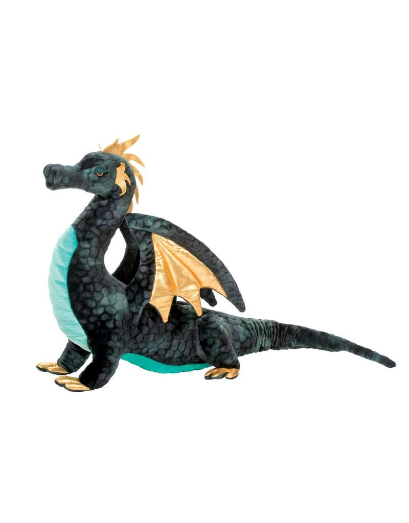 Douglas Aragon  Large Navy Stuffed Dragon