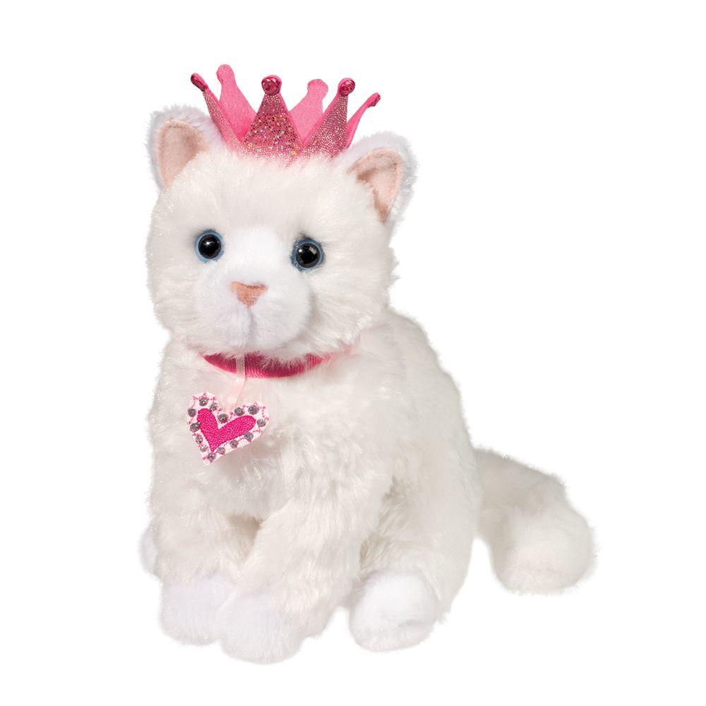 Douglas Dutchess White Cat  With Crown