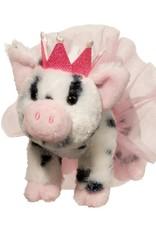 Douglas Loretta Pig With Black Spots Crown & Tutu