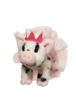 Douglas Loretta Pig With Black Spots Crown & Tutu
