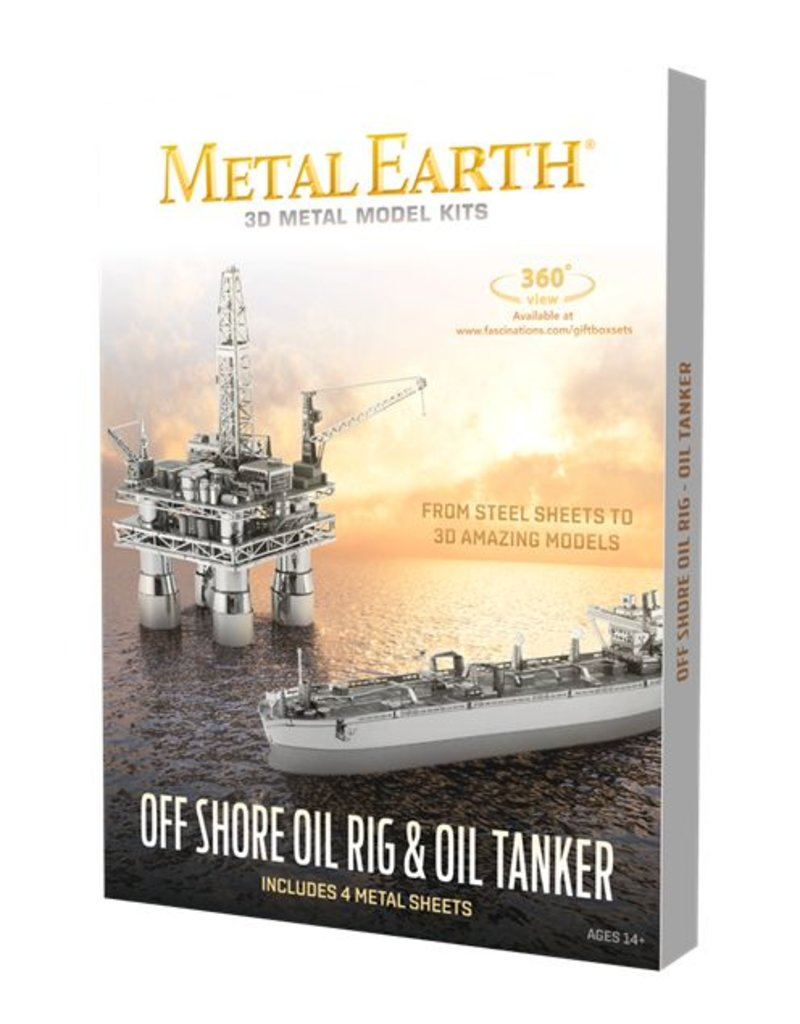 Metal Earth Offshore Oil Rig & Tanker