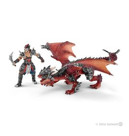 Schleich Warrior With Dragon