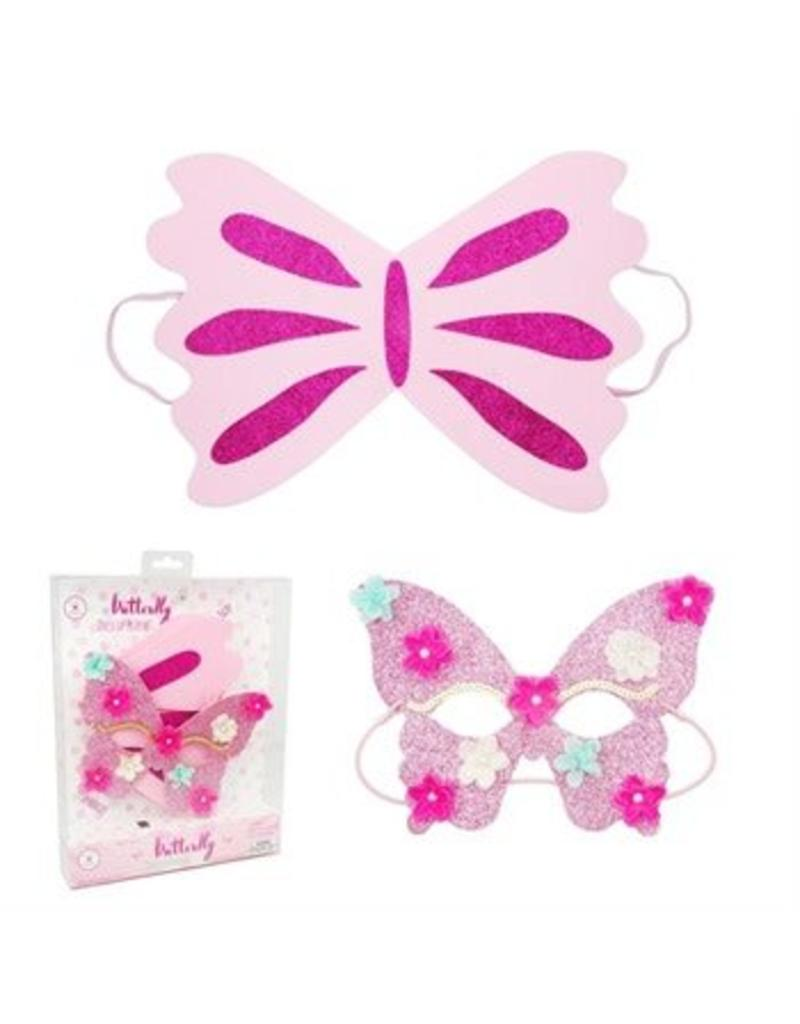Butterfly Mask & Wing Costume Set