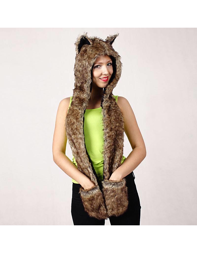 Hat Foxy Hood Black