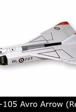 Avro Arrow Red  Mahogany Model