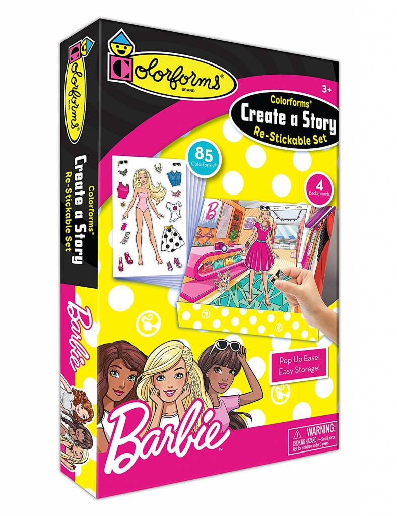 Colorforms Create A Story Barbie