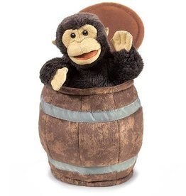 Folkmanis Monkey in a Barrel Puppet