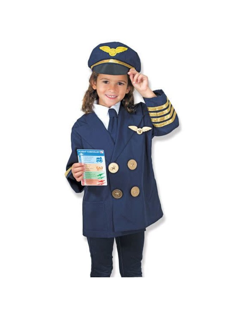Melissa and Doug Pilot Role Play Costume Set