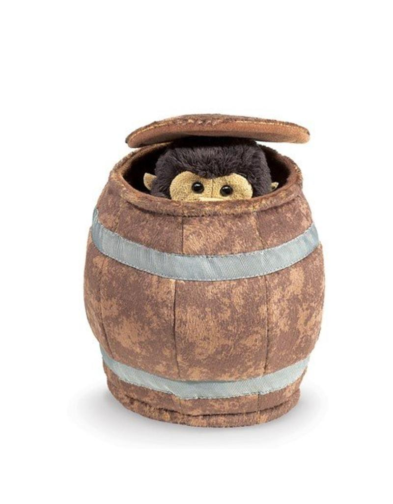 Folkmanis Monkey in a Barrel Puppet (gone)