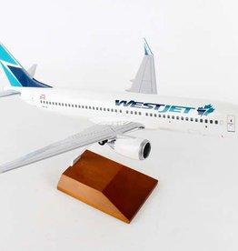 Skymarks Westjet 737 Max8 1/100 With Wood Base