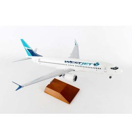 Skymarks Westjet 737 Max8 1/100 With Wood Base