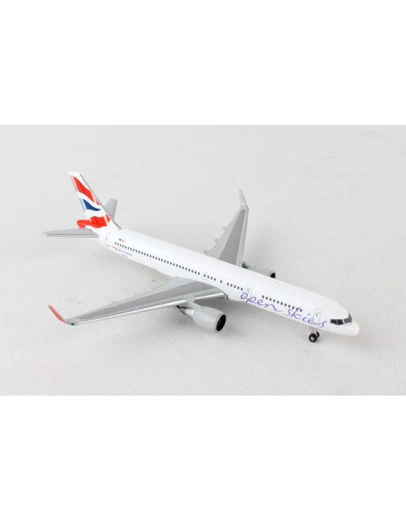 Herpa British 757-200 1/500 Open Skies