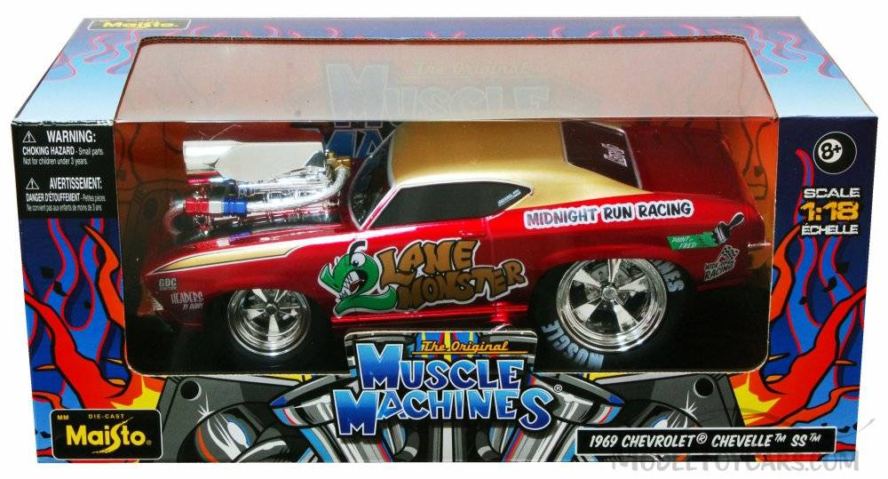 Diecast Cars | Chevy Chevelle 1969 -Muscle Machine - Who\'s Who in ...