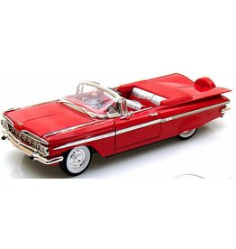1959 Chevy Impala Convertible Replica 1:18 Red