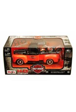 Ford 1948 Pick up with Harley 1:24 Black/ Orange