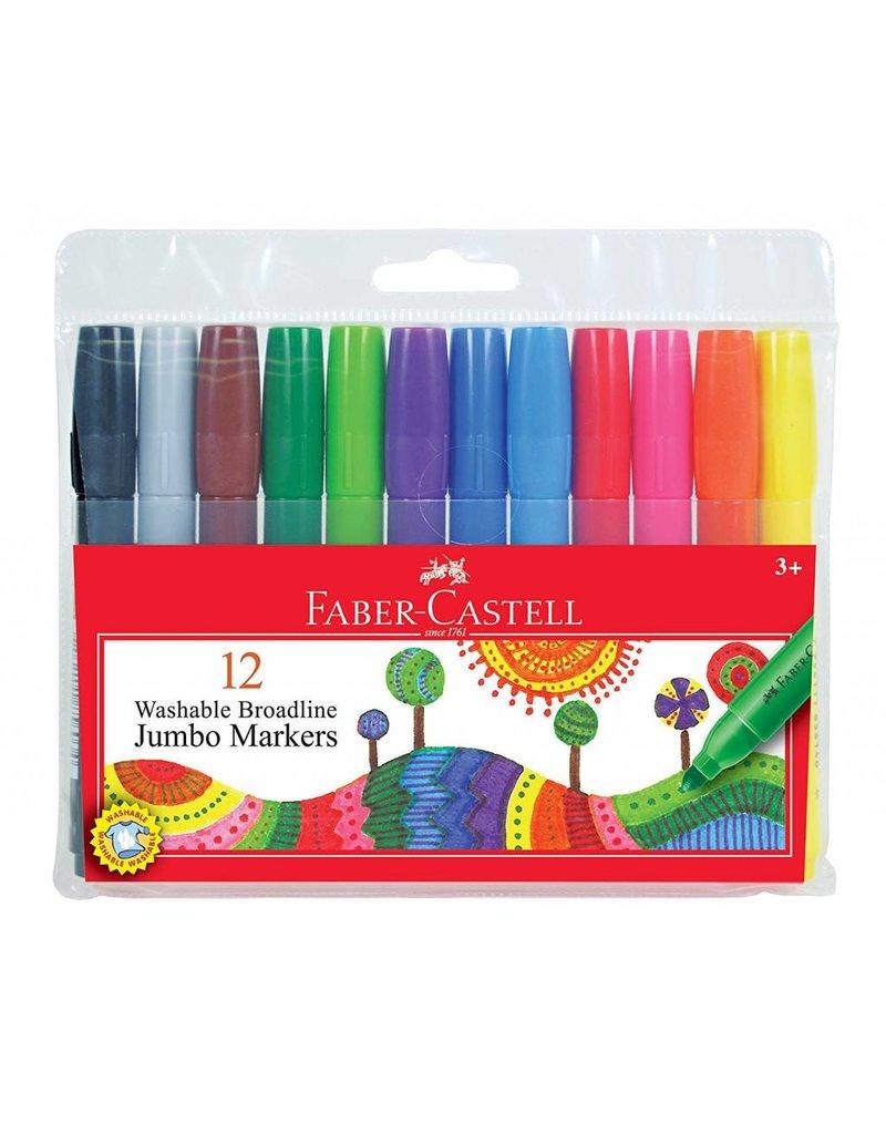 Faber-Castell Broadline Jumbo Marker Washable 12 Colors