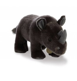 Miyoni Black Rhinoceros Plush