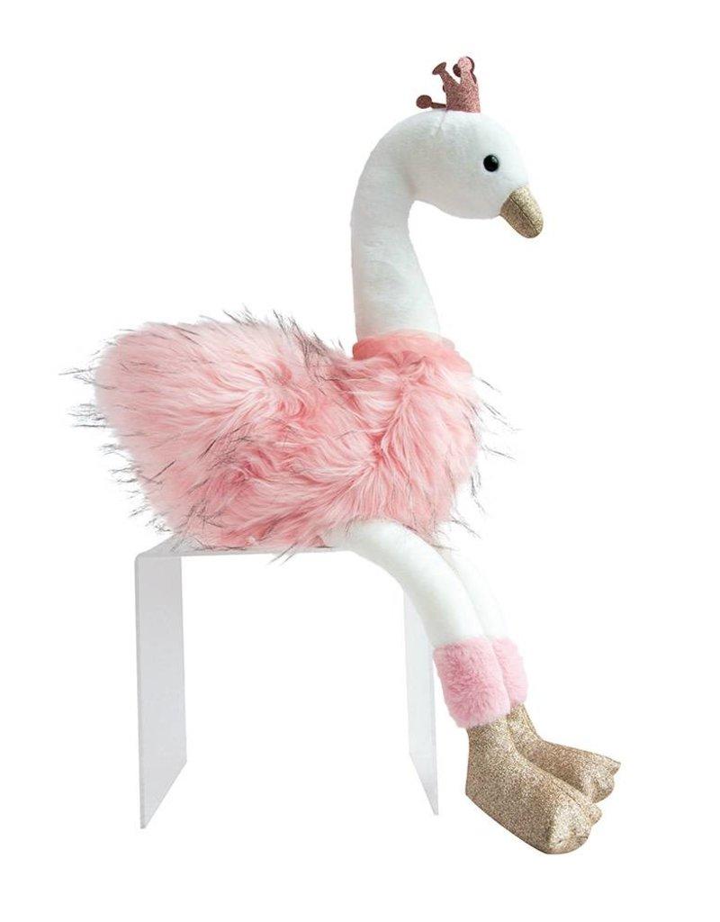Cygne Rose Large pink & White Swan 80cm