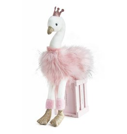 Cygne Rose Medium Pink & White Fluffy Swan 45cm
