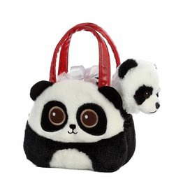 "Bright Eyes Panda Fancy Pals Purse with 8"" Animal"