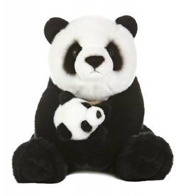 "Miyoni Panda With Cub 15"" Stuffed Animal"