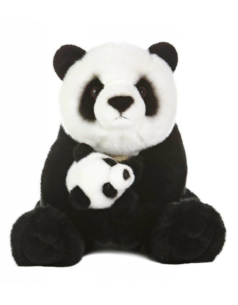 "Miyoni Panda With Cub 15"" Stuffed Animal"