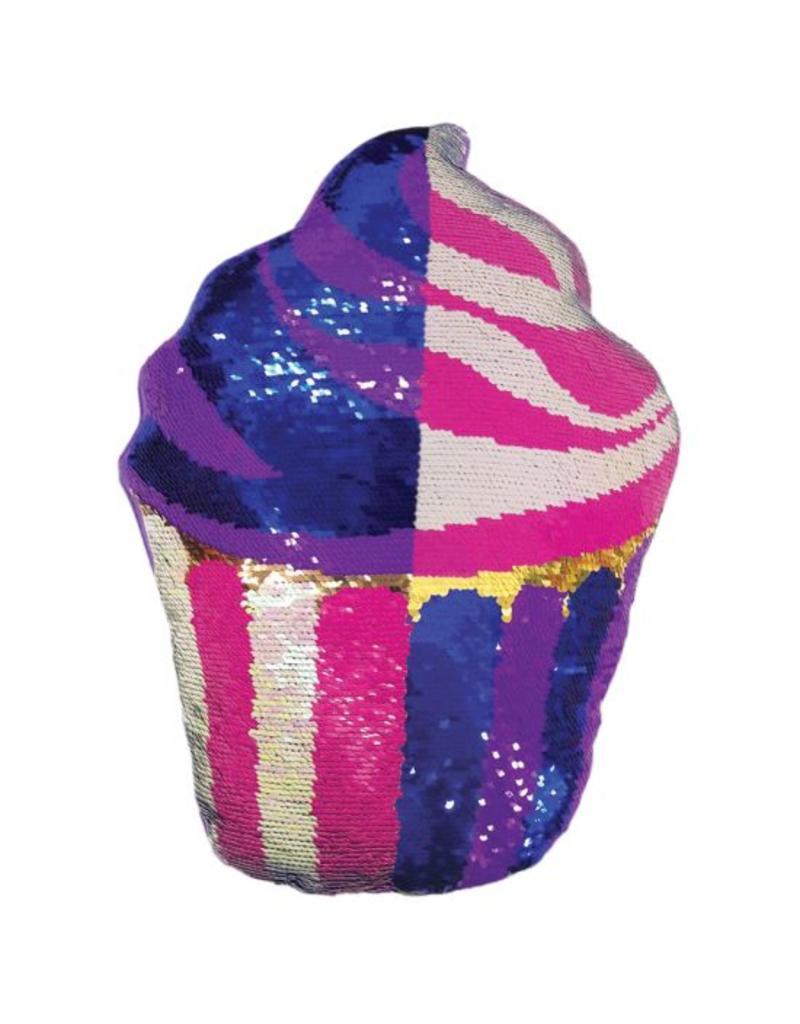 Cupcake Reversible Sequin Pillow