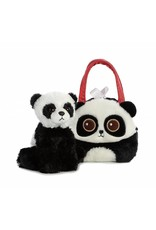 """Bright Eyes Panda Fancy Pals Purse with 8"""" Animal"""