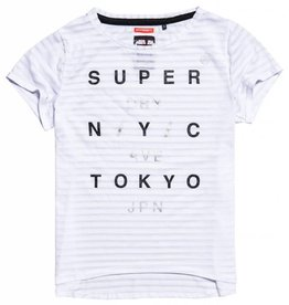 SuperDry Super Dry Womens Burnout Stipe Tee (Sale)