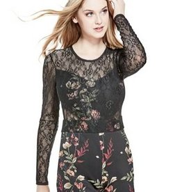 Guess Guess Jolissa Lace Mix Romper (Sale)