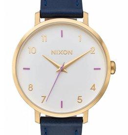 Nixon Nixon Arrow Leather Grey Navy