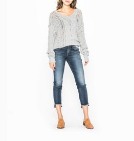 Silver Silver Womens Avery Skinny Crop