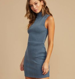 RUCA RVCA Womens Dispatch Mock Neck Dress
