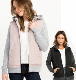 RUCA RVCA Womens Eternal Quilted Fleece Jacket