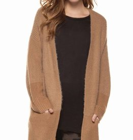 DEX Dex Color Block Open Cardigan Sweater
