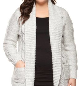 DEX Dex Plus Open Sweater Cardigan